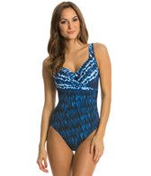 Miraclesuit Indigo-Go Escape Underwire One Piece Swimsuit