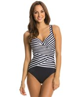 Miraclesuit New Directions Layered Escape Splice One Piece Swimsuit