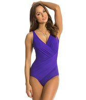 Miraclesuit Solid Oceanus Splice One Piece Swimsuit