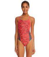 Speedo Color Circuit Flyback One Piece Swimsuit