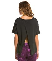 Under The Canopy Organic Willow Open Back Yoga Shirt