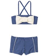 Hula Star Girls' Ocean Dot Bow Bandeau Two Piece Set (2yrs-6yrs)