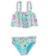 Hula Star Girls' Fairy Garden Flounce Tankini Two Piece Set (2yrs-6yrs)