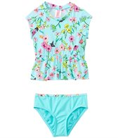 Hula Star Fairy Garden Peplum Rashguard Two Piece Set (2yrs-6yrs)