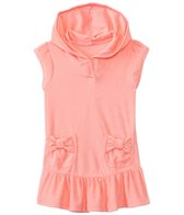 Hula Star Girls' Solid Cotton Cloud Terry Cover Up Hoodie Dress