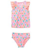 Hula Star Girls' Texture Pyramids Tankini Two Piece Set (2yrs-6yrs)