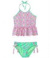 Gossip Girls' Bohemian Princess Peplum Tankini Two Piece Set (7yrs-16yrs)