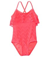 Gossip Girls' Endless Summer Crochet Flounce One Piece Swimsuit (7yrs-16yrs)