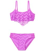 Gossip Girls' Endless Summer Crochet Flounce Two Piece Set (7yrs-16yrs)