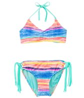 Gossip Girls' Neon Lights Bralette Halter Two Piece Set (7yrs-16yrs)