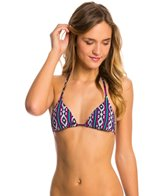 Roxy Swimwear Traveling Gypsy Reversible Tiki Triangle Bikini Top