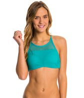 Roxy Swimwear Festival Fun Crop Halter Bikini Top