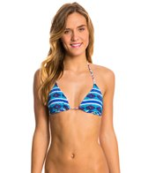 Roxy Swimwear Woodstock Tiki Triangle Reversible Bikini Top