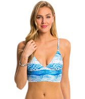 MINKPINK Shibori Wave Longline Bikini Top