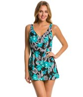 Maxine Poppy Paisley Empire Swimdress