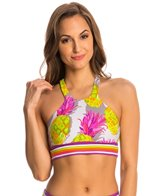 Trina Turk Pineapples Yoga Sports Bra
