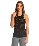 Trina Turk Island Mesh High Neck Yoga Tank Top