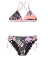 Hurley Girls' Sunset Palms Triangle Two Piece Set (7yrs-14yrs)