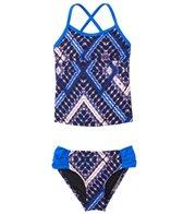 Hurley Girls' Tie Dye Maze Tankini Two Piece Set (4yrs-6X)