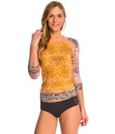 Maaji Oahu Coconut Sunset 3/4 Sleeve Rashguard