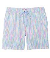 Mr.Swim Mens' Dale Dripping Stripe Elastic Swim Trunk