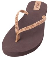 Reef Women's Slim Ginger Leather Flip Flop