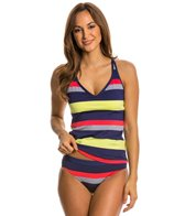 Jag Newport Stripe Crisscross Back Tankini Top