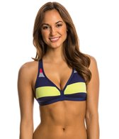 Jag Swimwear Newport Stripe Tie Back Soft Cup Bikini Top