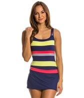 Jag Newport Stripe Skirted One Piece Swimsuit