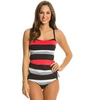 Jag Newport Stripe Underwire Tankini Top (D/DD Cup)