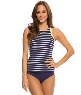 Jag Fisher Island Stripe Racerback Tankini Top