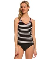 Jag Fisher Island Stripe Crisscross Back Tankini Top