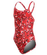 Speedo Youth Optical Burst Flyback One Piece Swimsuit