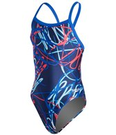 Speedo Youth Spiral Curve Flyback One Piece Swimsuit