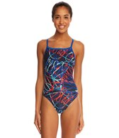 Speedo Spiral Curve Flyback One Piece Swimsuit