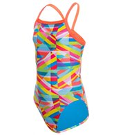 Speedo Youth Stripes Propel Back One Piece Swimsuit