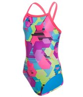 Speedo Youth Spot Printed Propel Back One Piece Swimsuit