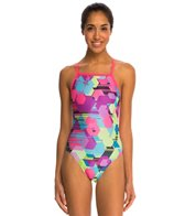 Speedo Spot Printed Propel Back One Piece Swimsuit