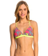 Speedo Turnz Maze Printed Tie Back Swim Top