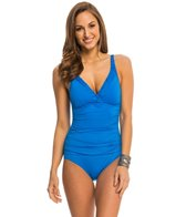 Jantzen Signature Solids Pin-Tucked Surplice One Piece Swimsuit