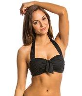 Jantzen Signature Solids Tie Front Halter Bikini Top