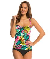 Jantzen Riviera Palm Twist Front One Piece Swimsuit