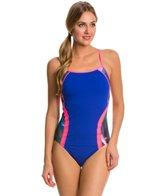 Speedo Power Prism Thin Strap One Piece Swimsuit