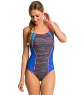 Speedo Texture Thin Strap One Piece Swimsuit