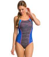 Speedo Texture Thin Strap One Piece Swimsuit