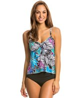 Maxine Tahitian Floral Tie Front Tankini Top