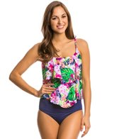 Maxine Paradise Palms Tiered Tankini Top