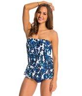 Maxine Santorini's Roses Peplum One Piece Swimsuit