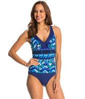 Maxine Geo Days Shirred Side One Piece Swimsuit