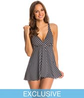 Penbrooke Neautral Spot Fly Away Swimdress